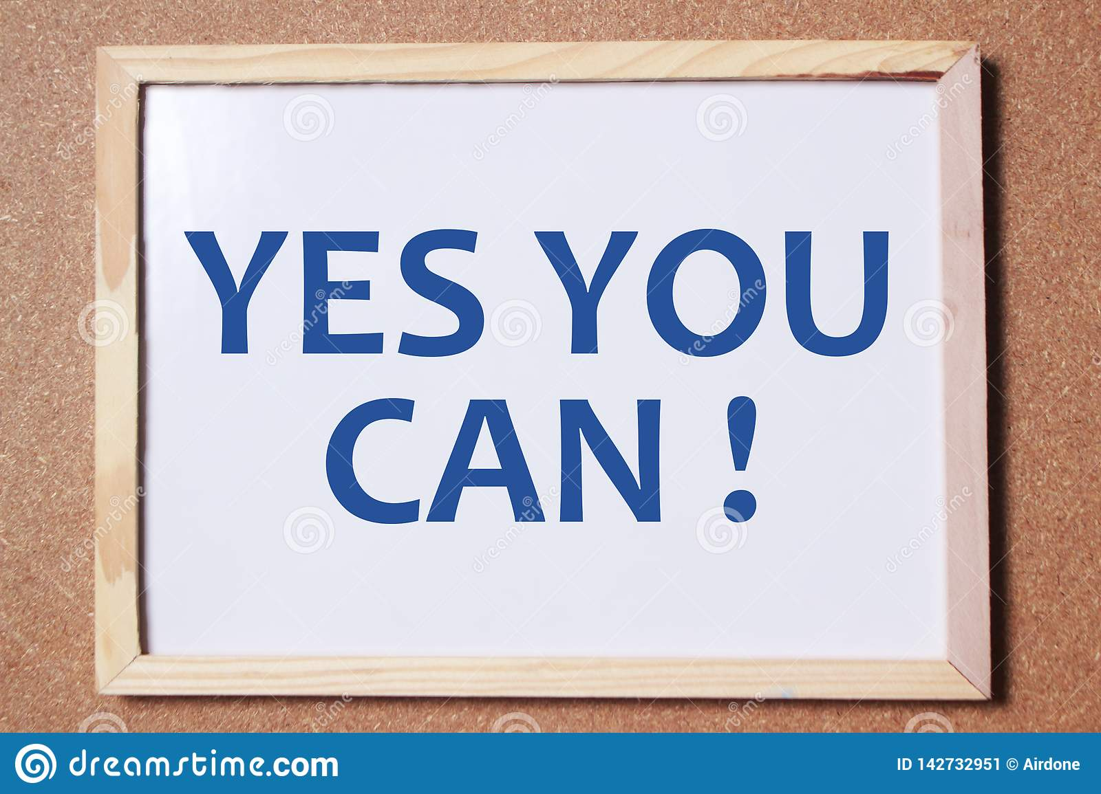 Yes You Can Motivational Words Quotes Concept Stock Image Image Of Symbol Attitude 142732951