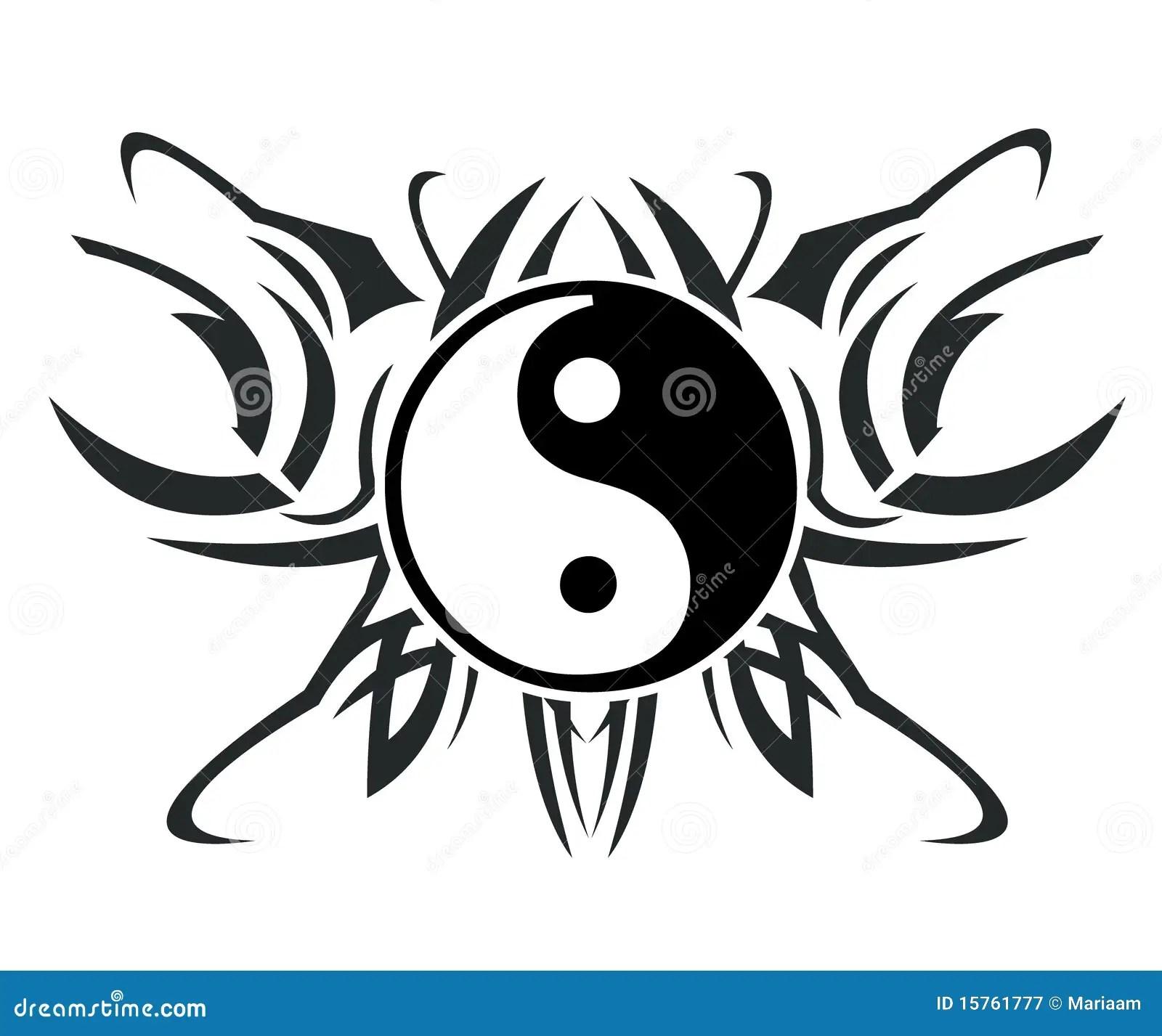 Yin Amp Yang Tattoo Stock Illustration Image Of Chinese