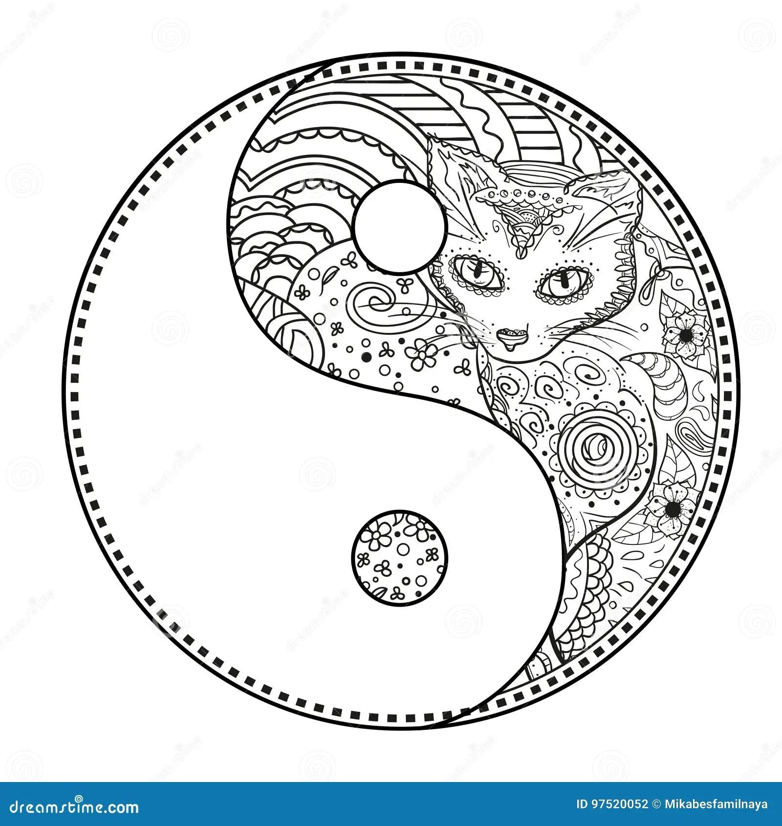 Yin Yang Tattoo For Design Symbol Illustration Vector