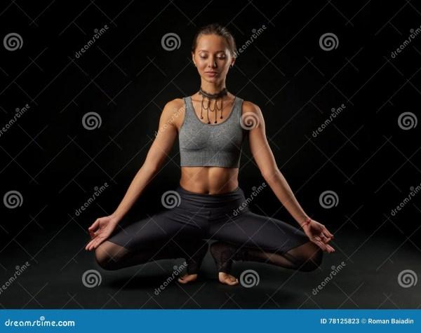 Yoga Black Vector Illustration