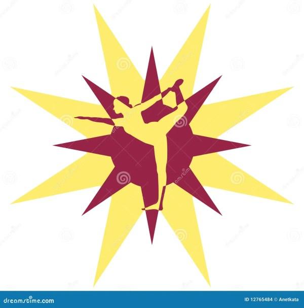 Yoga Logo Stock - 12765484