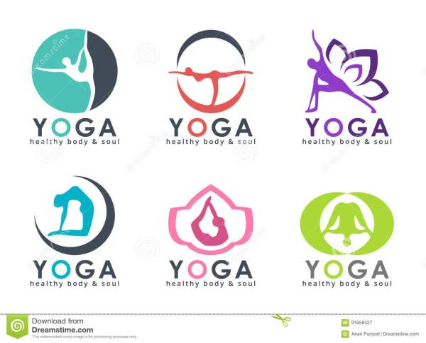 Yoga Logo With Abstract Human Playing Posture Vector