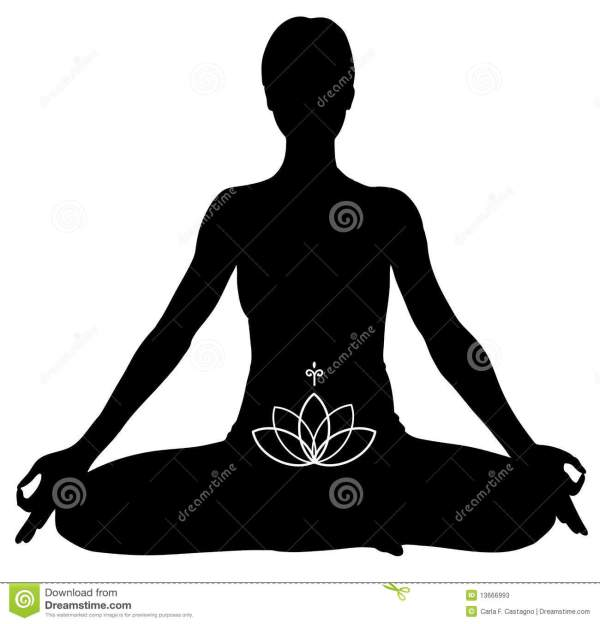 Yoga Lotus Pose Stock Vector. Illustration Of Loto