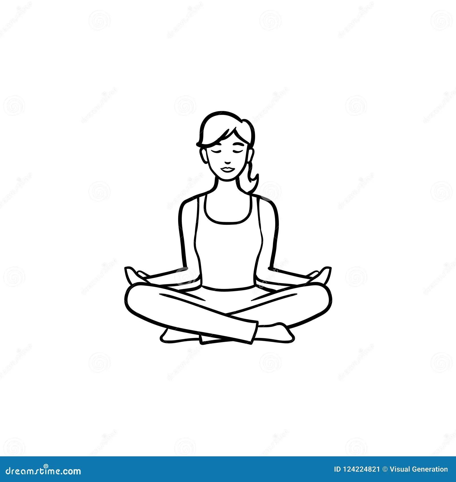 Yoga Energy Icon Vector Illustration