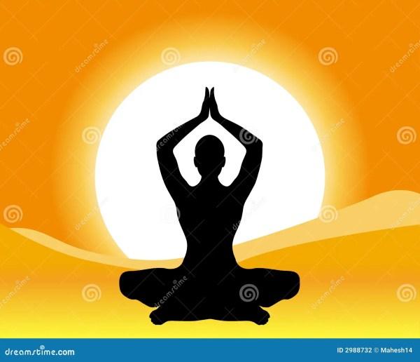 Yoga - Meditation Stock Illustration. Illustration Of Pray