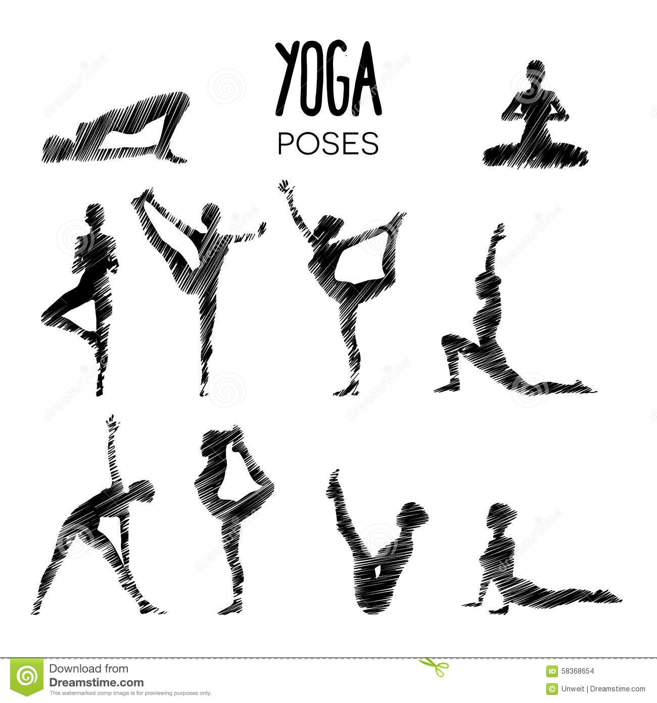 Yoga Poses Stock Vector Illustration Of Stretch Energy