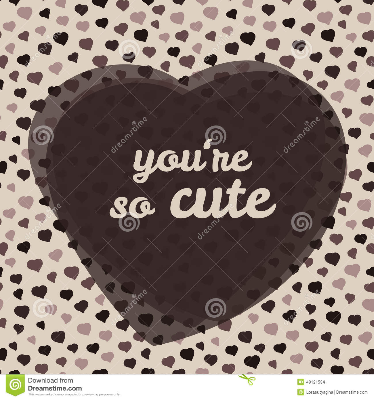 Youre So Cute Typography Valentines Day Love Card
