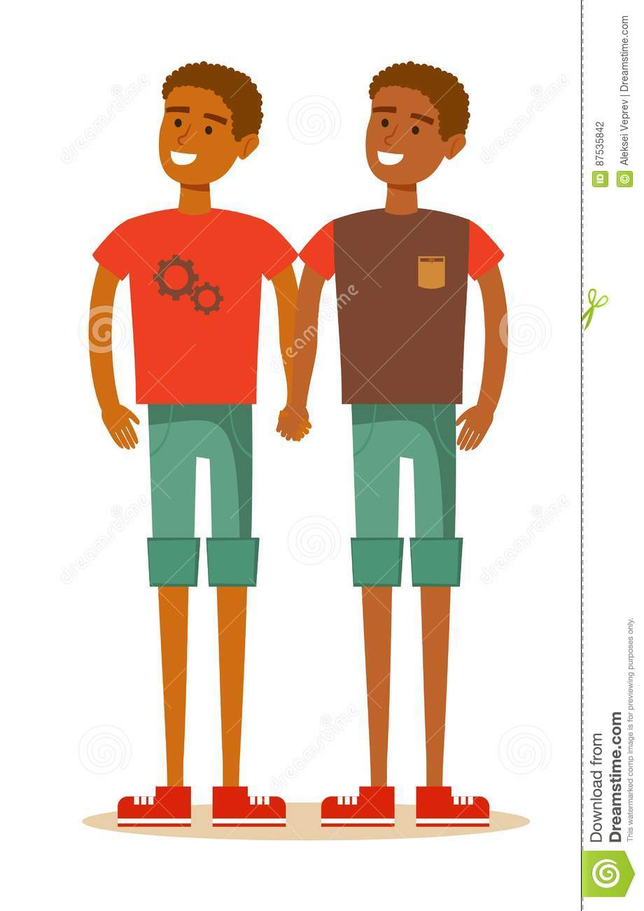 hight resolution of young african american homosexual family