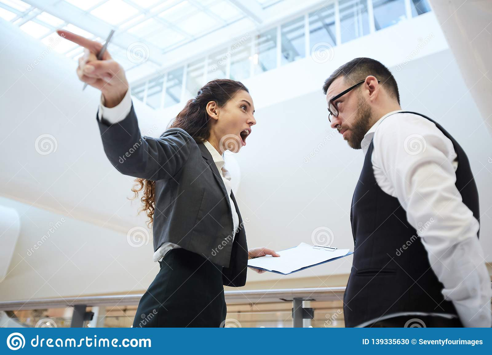 Working Conflict Stock Photo Image Of Corporate