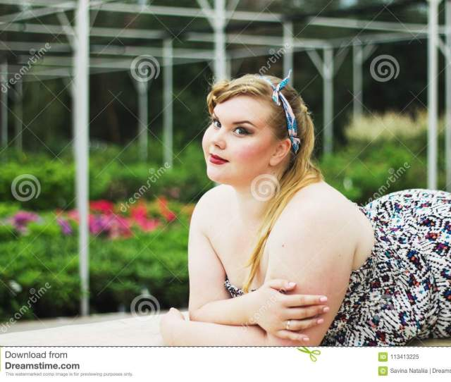 Download Plus Size Model Black Bra Xxl Woman Young Beautiful Curv Stock Image Image