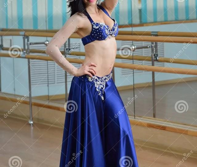 Young Beautiful Belly Dancer In Arabic Costume Oriental Dance
