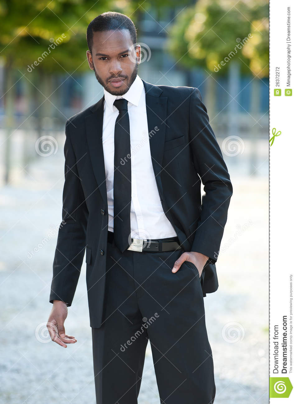young black man in