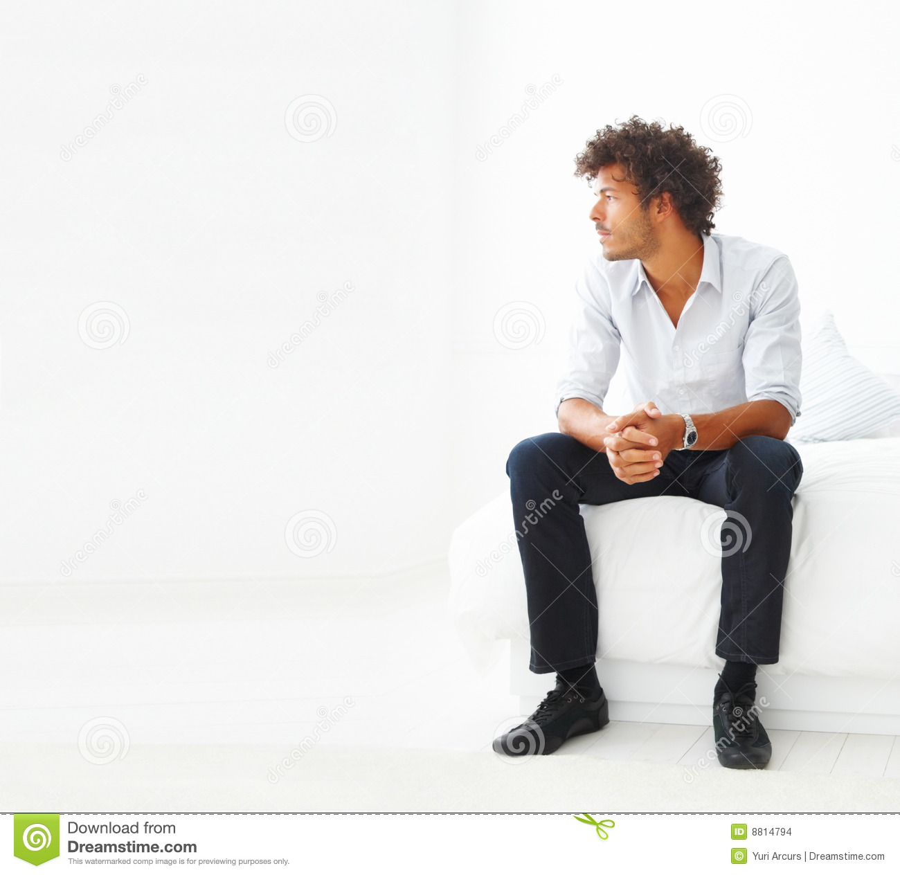 Young business man sitting stock photo Image of bright  8814794