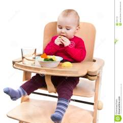 Eating Chairs For Toddlers Walmart Porch Young Child In High Chair Stock Photos Image