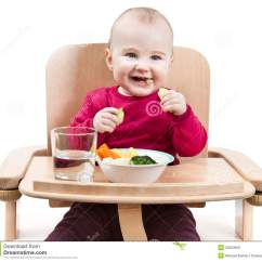 High Chairs For Babies And Toddlers Mid Century Modern Occasional Young Child Eating In Chair Royalty Free Stock Images