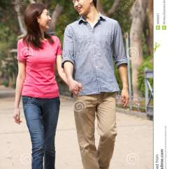Chinese Living Room Interior Decorating Rooms Young Couple Walking In Park Royalty Free Stock ...