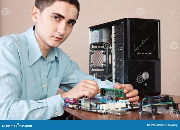 Young Computer Engineer Stock Of Engineering