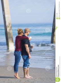 Young Couple Beach Editorial Stock Of