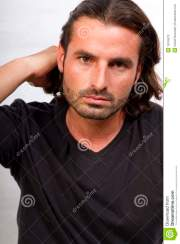 young creative male with long hair