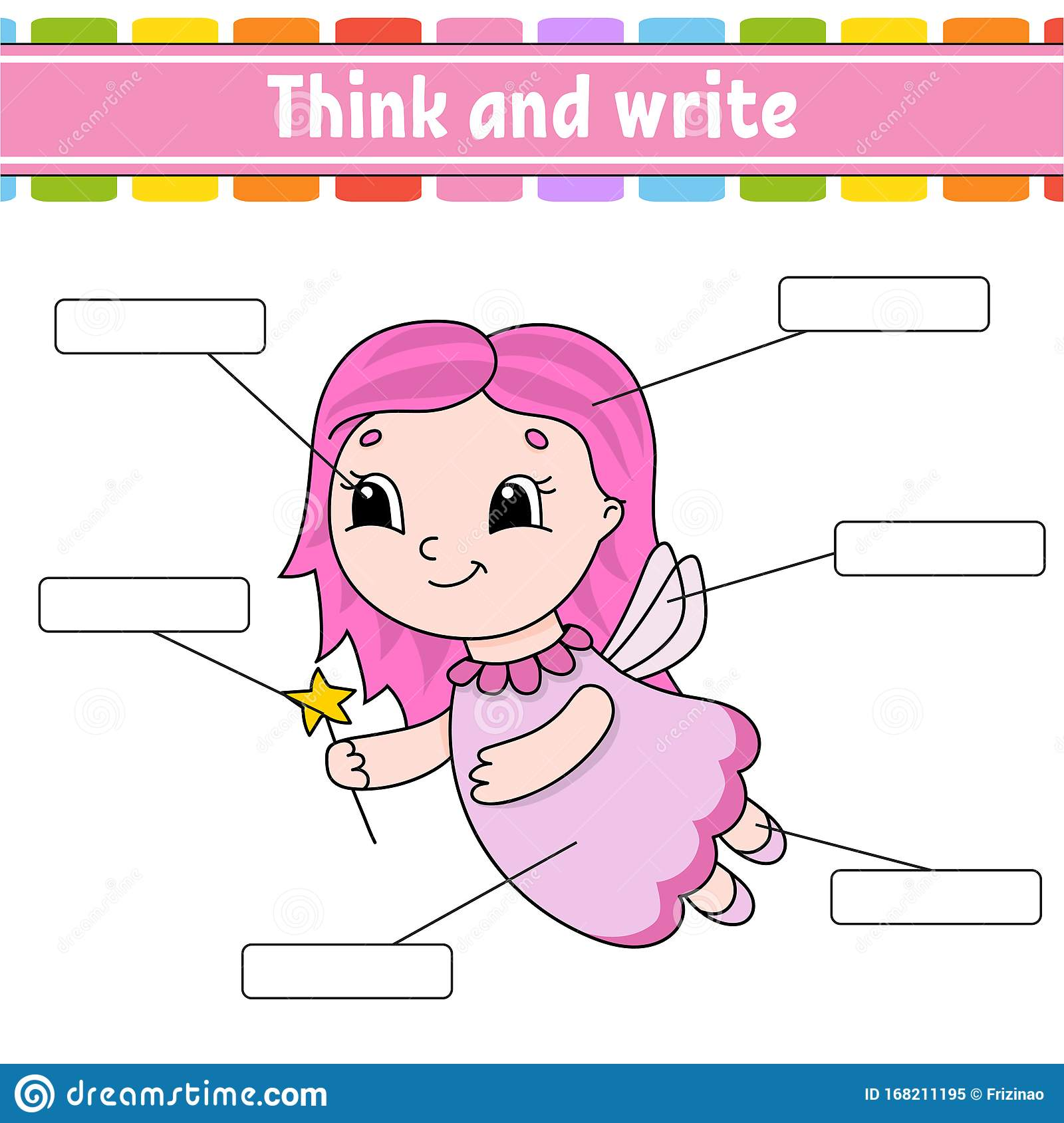 Young Fairy Think And Write Body Part Learning Words