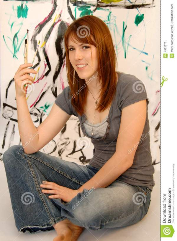 Young Female Painter Artist Stock - 4922673