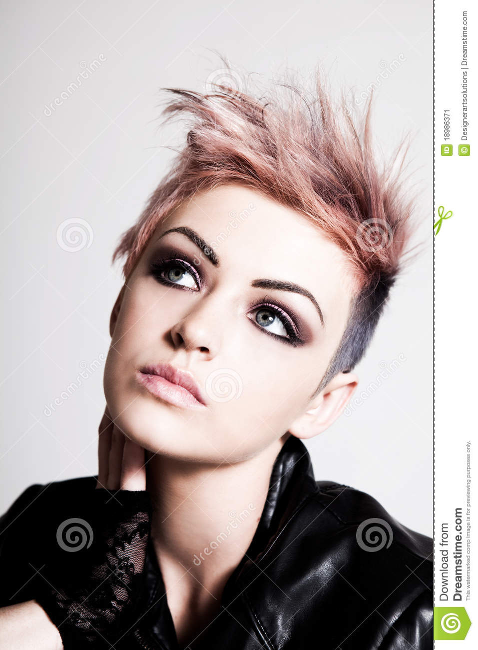 Young Female Punk With Pink Hair Stock Image  Image 18986371