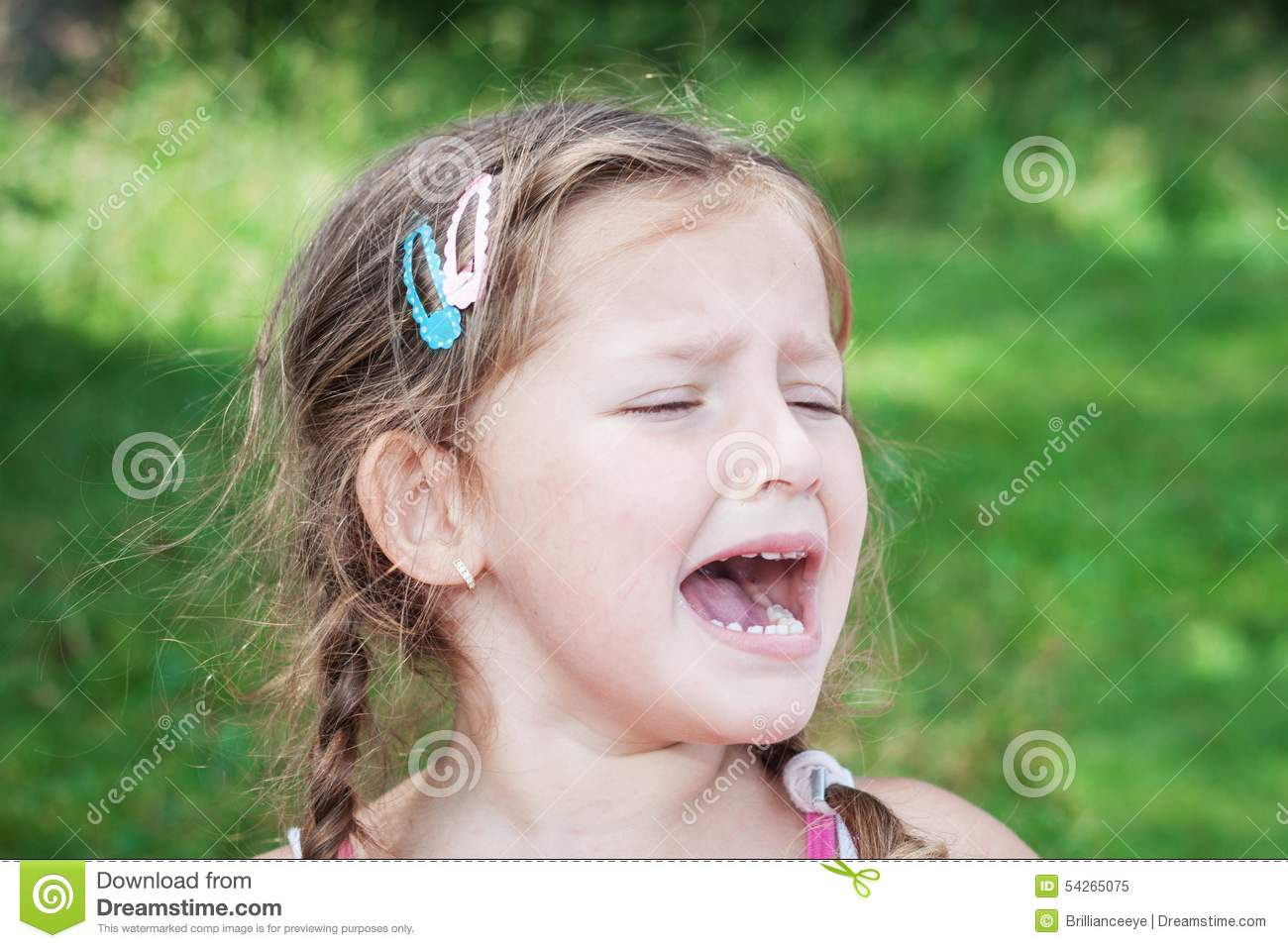 Cute Girl Crying Wallpaper Young Girl Crying Because Of Headache Stock Image Image