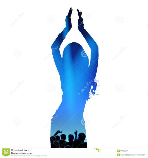 Zumba Dance Silhouette Vector Cartoon