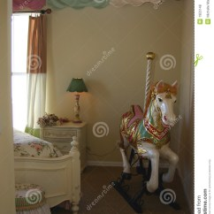 Living Room Interior Design Modern Wooden Ceiling Designs Young Girls Bedroom With Carousel Horse Royalty Free Stock ...