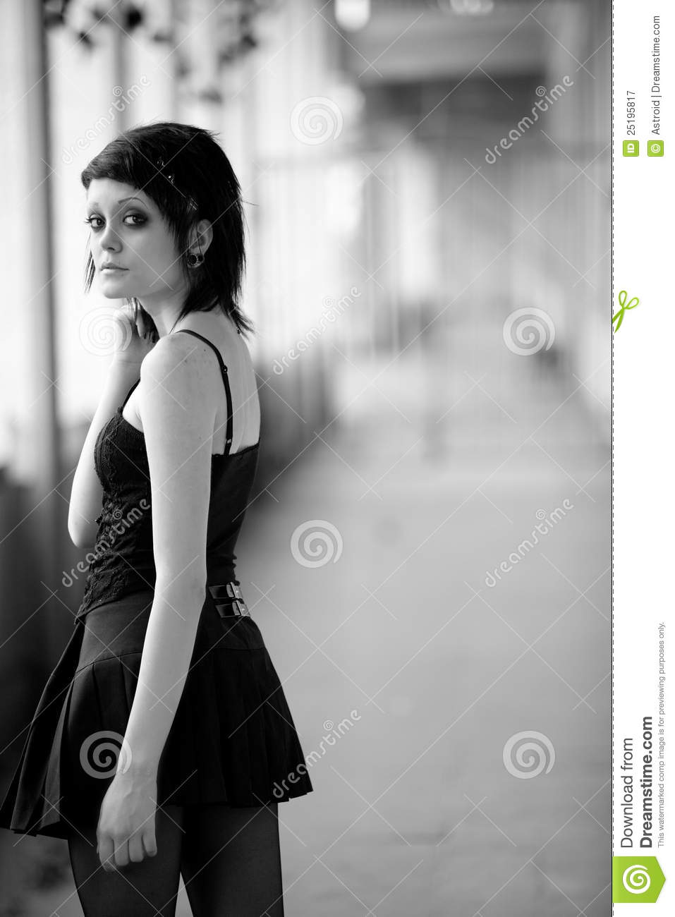 Young Gothic Girl Royalty Free Stock Photography Image