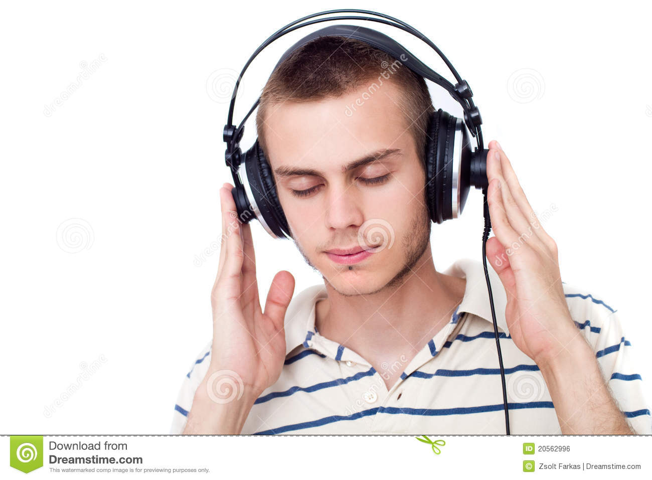 young man with headphone