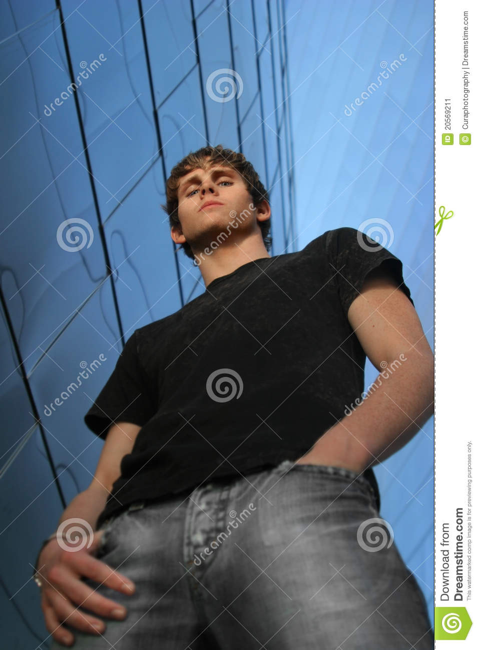 Young Man Looking Down Stock Image Image 20569211