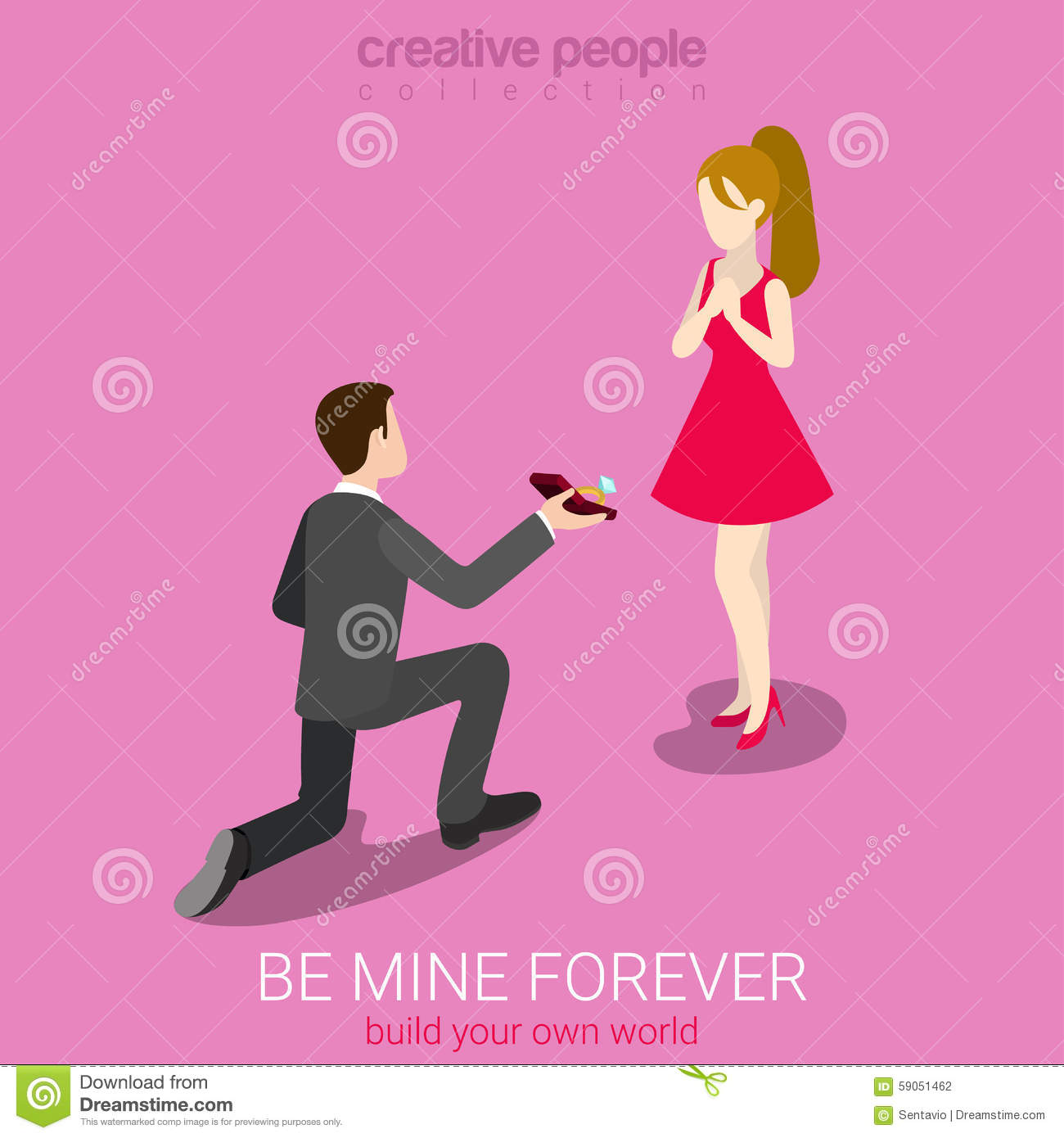 The Romantic Concept With Man Making Marriage Proposal