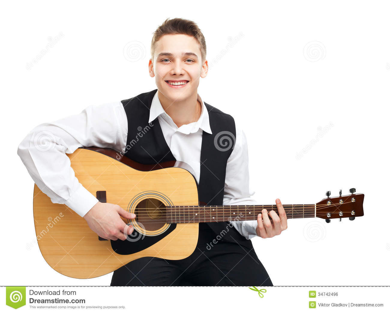 guitar playing chair steelcase accessories young man on royalty free stock image