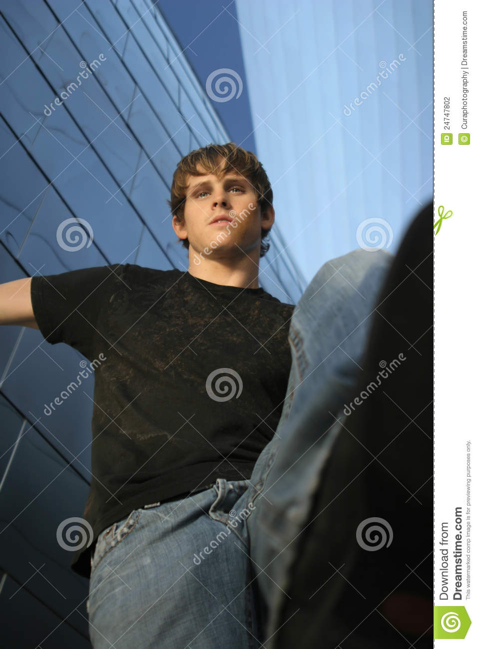 Young man stomping stock photo Image of single abuse  24747802