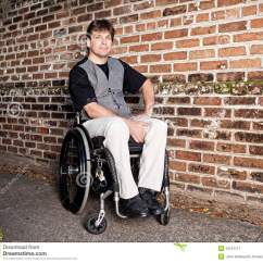 Wheelchair Man White Ergonomic Office Chair Young In Stock Image Of Outside
