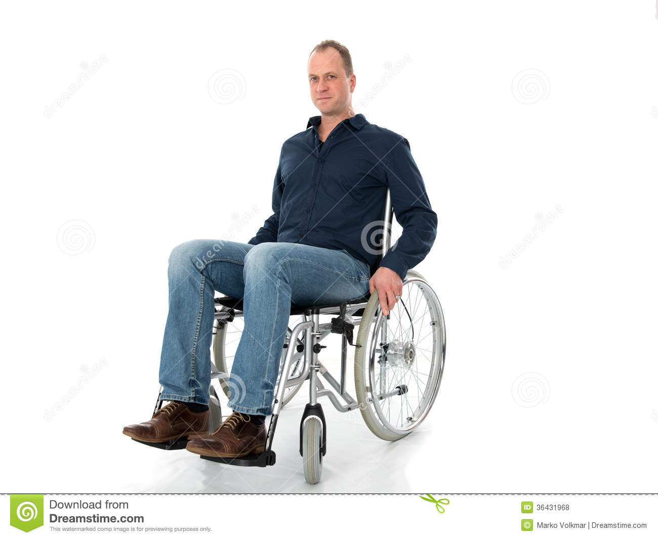 wheelchair man pottery barn ladder back chairs young in stock photo 36431968 megapixl