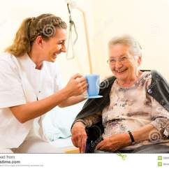 Geriatric Chair For Elderly Baxton Studio Dining Chairs Young Nurse And Female Senior In Nursing Home Stock Image - Of Nurse, Elderly: 26006489