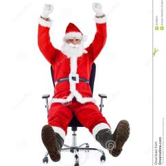 Santa Claus Chair Stair Lift Young Sitting On An Office Stock Image