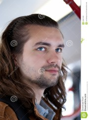 young attractive guy with long