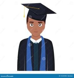 graduated student character young vector cartoon