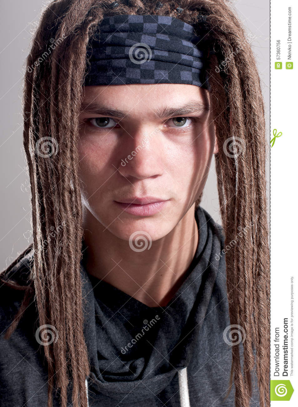 Young Stylish Guy With Dreadlocks Stock Photo  Image 57360756