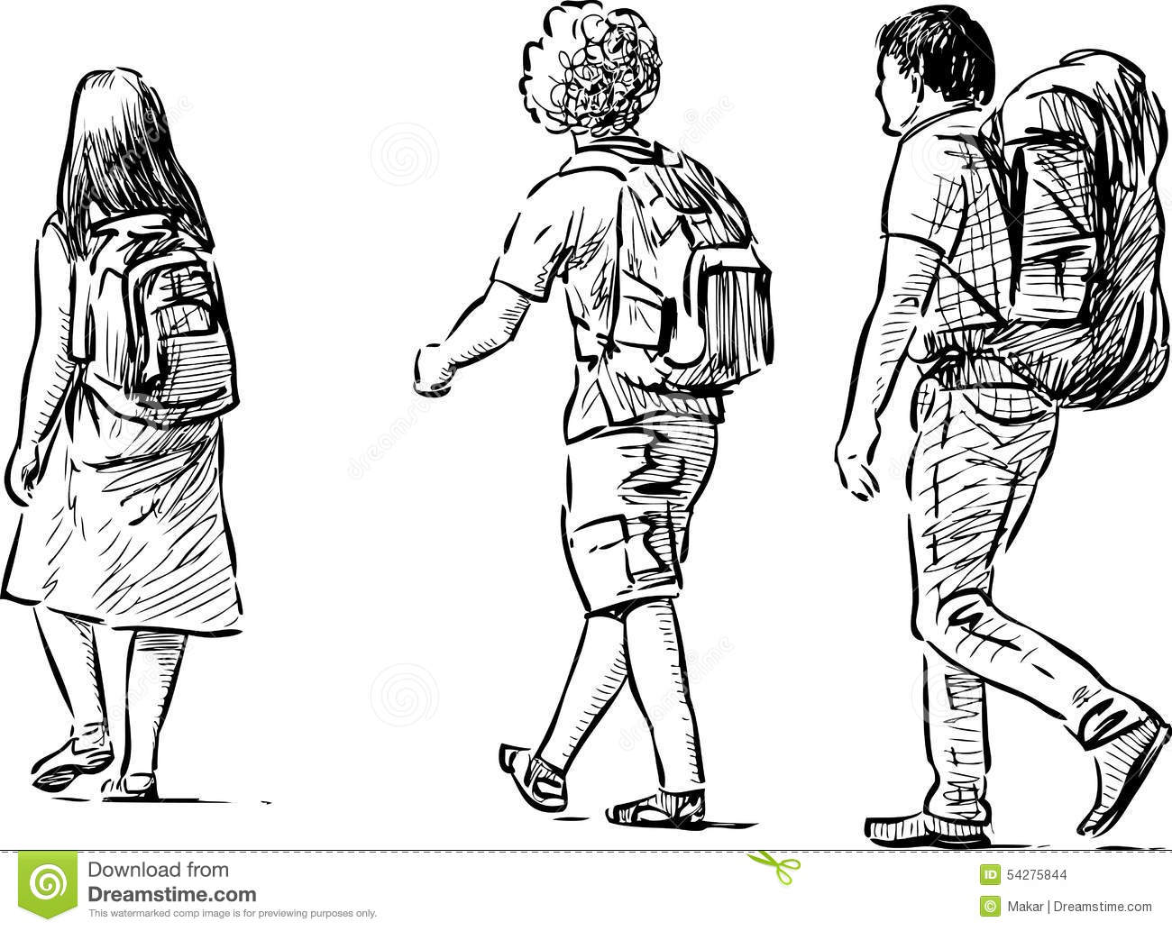 Young Tourists Stock Vector Illustration Of Holiday