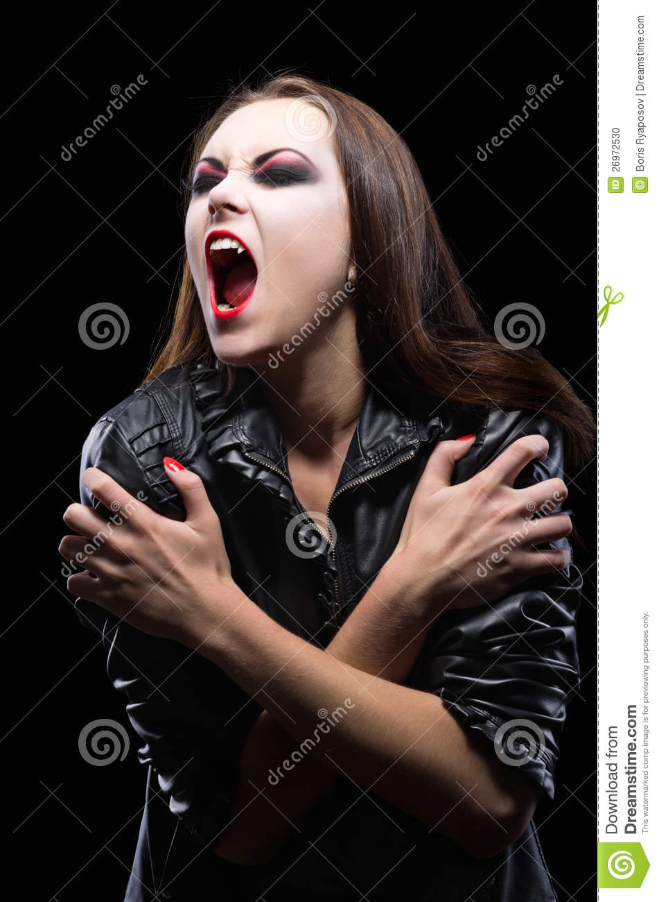 Evil Dark Fantasy Girl Wallpaper Hd Young Vampire Girl Isolated Stock Photo Image Of Furious