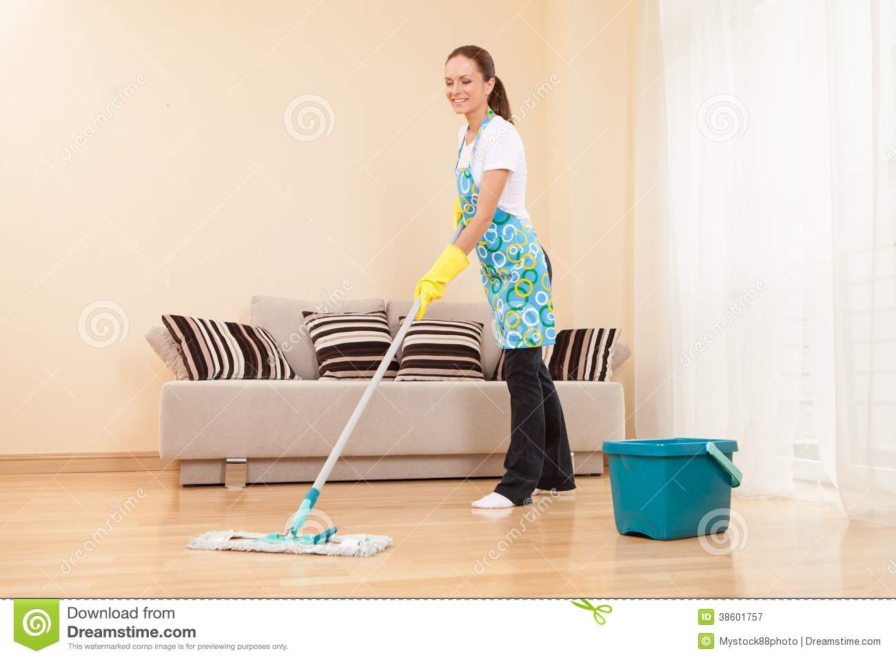 Young Woman Doing Housework And Cleaning Royalty Free Stock Photography  Image 38601757