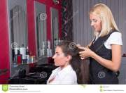 young woman haircut