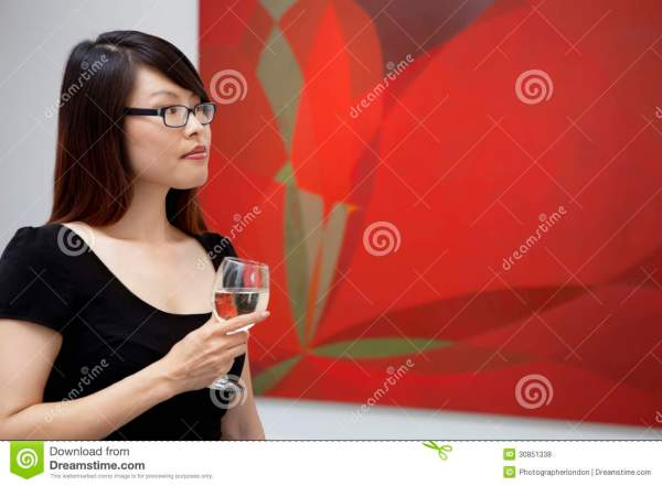 Woman Looking at Art Gallery