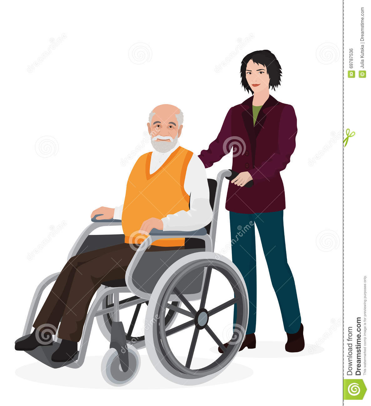 wheelchair man 16 round bistro chair cushions young disabled in royalty free stock image