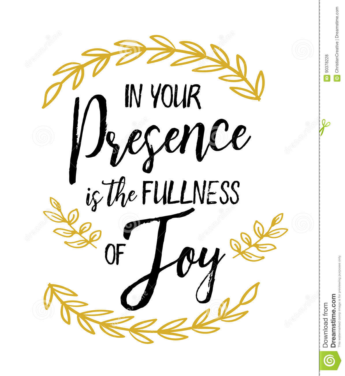 in your presence is