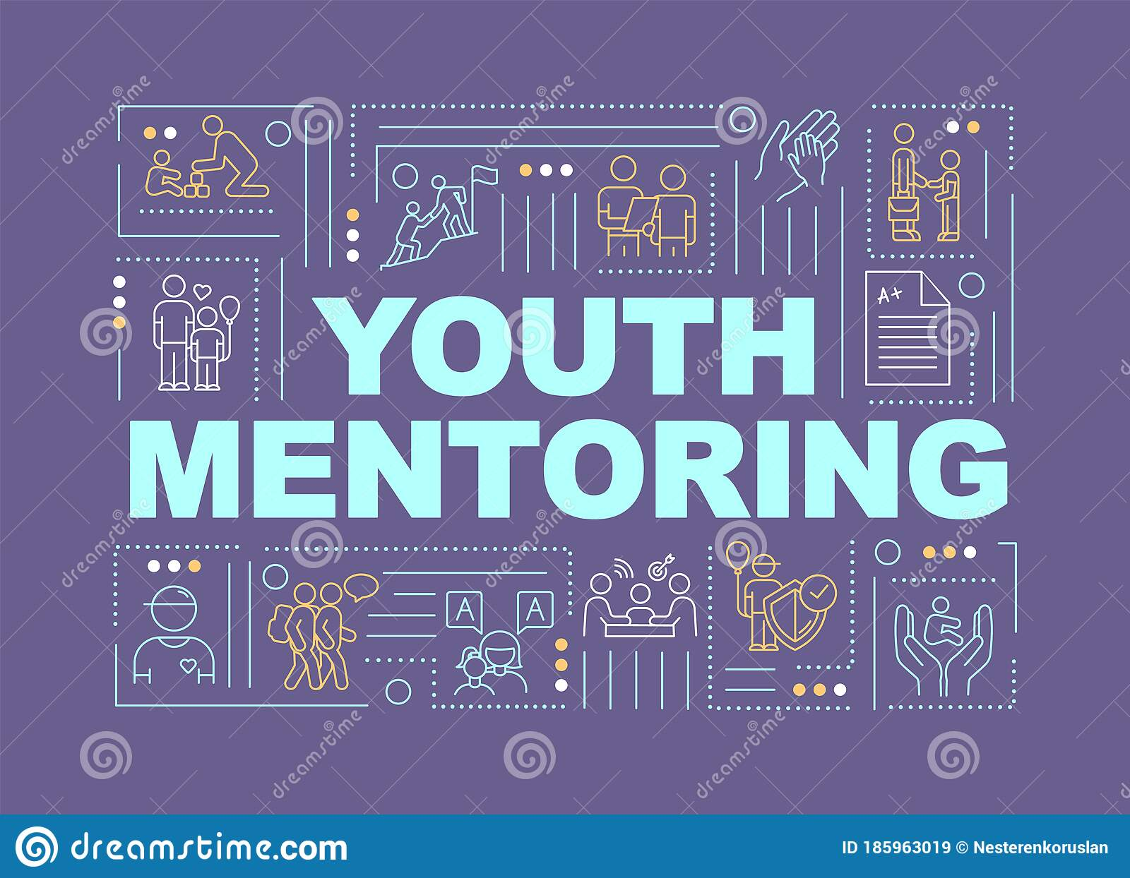 Youth Mentoring Word Concepts Banner Stock Vector
